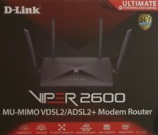 D-Link Wireless Viper AC2600 Dual Band Gigabit ADSL2+/VDSL2 Modem Router