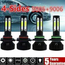 4 SIDES 9005+9006 LED Combo Headlight Kit 440W Light Bulbs Hi/ Lo Beam 6000K CT
