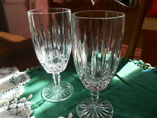 """TWO Mikasa Old Dublin Iced Beverage Drink Glasses 7 3/8"""" Tall"""