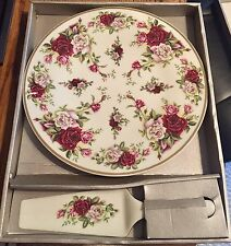 Formalities by BAUM BROS. Cake Plate and Server set In box VICTORIAN ROSE