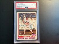 1982 Topps Baseball #600 Dave Winfield, New York Yankees PSA 8 NM-MT