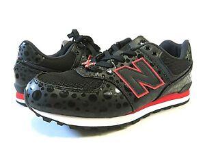 NWT NEW BALANCE x Disney Minnie Mouse Black Tennis Shoes Kid's Size 5 M