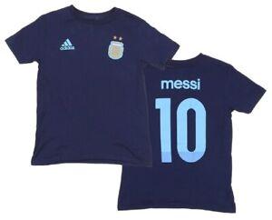 Lionel Messi Argentina #10 Adidas Navy Blue Performance Jersey Tee Shirt Men 2XL