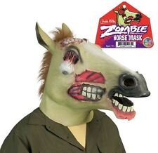 Full Size Adult Zombie Horse Head Latex Mask Halloween Costume By Archie McPhee