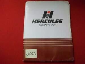 HERCULES ENGINE BROCHURES & SPECIFICATION & INFO SHEETS DIESEL,LPG, GASOLINE, NG