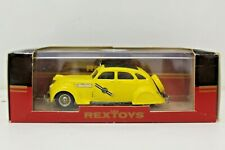 REXTOYS   Chrysler Airflow 1935 Taxi Yellow Cab