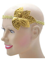 Roman Grecian Goddess Gold Leaf Headband One Size Womens Ladies Fancy Dress New