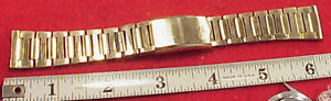 Vintage 18MM 16.5cm Goldfarben Waltham Armbanduhr Band