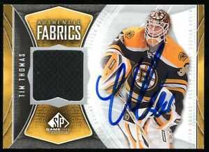 2009-10 SP Game Used Authentic Fabrics Tim Thomas Autographed Card Bruins