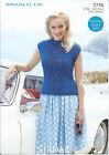Ladies Top in Sirdar Amalfi DK Yarn, Knitting Pattern 7776