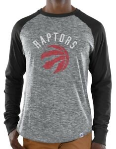 "Toronto Raptors Majestic NBA ""Exposure"" Men's Long Sleeve Gray Slub Shirt"