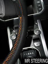 Para Toyota Tacoma MK2 05-11 Cubierta del Volante Cuero Verdadero Naranja STCH doble