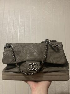 Authentic Chanel quilted shoulder bag