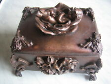 Detail Jewelry Box Vintage Copper Beautiful
