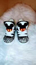 Converses Chuck Taylors Disney Mickey Mouse Custom Made Toddlers Size 4-9