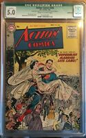 """""""Superman/Lois Lane"""" Action Comics #206 Certified 5.0 Cream to Off-White"""