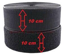 1 metro Velcro strappo da cucire da 10 cm completo Maschio+Femmina colore nero