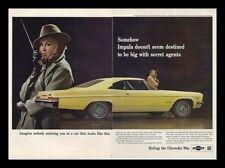 1966 Chevrolet Impala SS Spy  General Motors car ad print gift 1965 1967