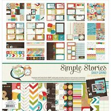 sImple stories DAILY grind 12x12  collection paper & sticker kit hard to find