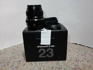 FUJIFILM Fuji Fujinon XF 23mm F/2 R WR Black W/ Box