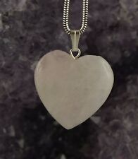 Rose Quartz Heart Pendant with Eyelet approx. 32 x 25 MM GEMSTONE PENDANT T1