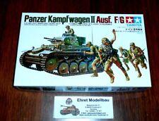 WWII german Tank Panzer Kampfwagen II Ausf. F/G  + Figuren 1:35 Tamiya 35009 Neu