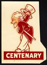 Centenary College _HIGHLY SCARCE Louisiana Gentlemen Original 1940's Decal NCAA