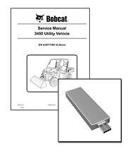 Bobcat 3450 Utility Vehicle Workshop Service Manual USB Stick + Download