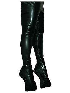 Ballet Pony Crotch lack pu Schwarz , Gr. 40 - 47  RV, neu,  Länge 80 cm PL