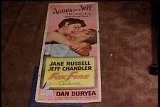 FOX FIRE 1955 INSERT 14X36 MOVIE POSTER JANE RUSSELL JEFF CHANDLER
