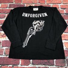 "Warren Lotas ""Unforgiven� Black distressed Long-sleeved Mens Adult Medium"