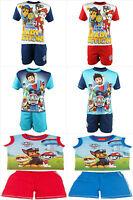 Paw Patrol T-Shirt & Short Set Short Sleeve T-Shirt & Short Outfit Boys Summer