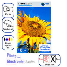 4x6 / 4R, Soft Silky RC (resin coated) Inkjet Photo Paper 260gsm (20 Sheets)