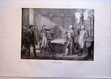 Lithographie de Le Thier, Napoléon, Traité de Loeben
