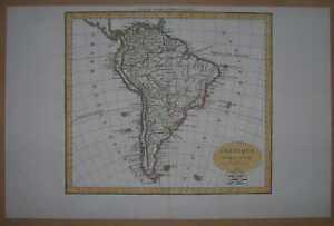 1825 Delamarche map SOUTH AMERICA