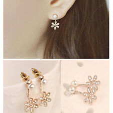 1Pair Women's Five flower Of Design Of Stud Earrings Luxury Cute Girl Gift New