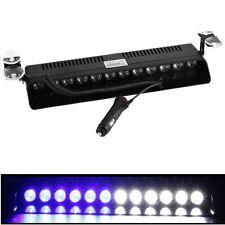 New 12 LED Car Emergency Strobe Flash Light Bar Police Warning Lamp BLUE WHITE