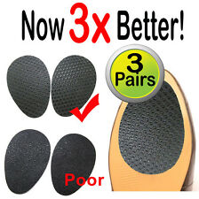 3 Pair Self Adhesive Non Slip Shoe Sole Grip Pads, High Heels & Slippery Soles!