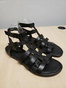 Clarks Size 11M VIVECA MYTH Black Leather Gladiator Sandals New Womens Shoes