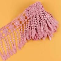 3 Yards Charming Pink Venise Lace Fringe Applique Lace Sewing Trim Craft