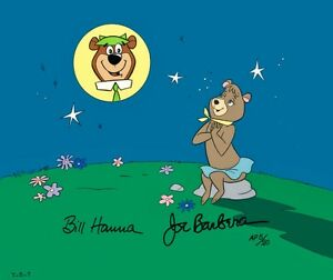 Yogi Bear Hanna Barbera Cel Cindy Signed Yearning For Yogi Rare Artist Proof