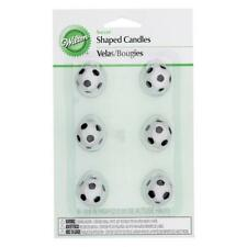 NEW Wilton Soccer Ball Candles 6 Pack