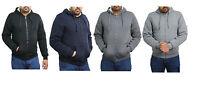 Men's Hoodie Full Zip Hooded Fur Lining Sweatshirt Fleece Jacket Coat Size M.2XL