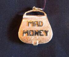 "Vintage 14K Gold ""Mad Money"" Pendant"