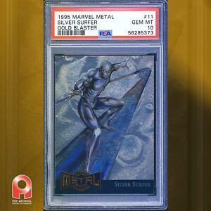 1995 Marvel Metal Blaster SILVER SURFER #11 GOLD Blaster PSA 10 GEM MINT LOW POP