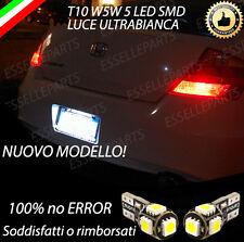 COPPIA LUCI TARGA 5 LED HONDA ACCORD 8G T10 W5W CANBUS 100% NO ERROR