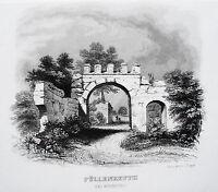 Kloster Pillenreuth  Nürnberg  Eichstett Bayern Augustiner alter Stahlstich 1844