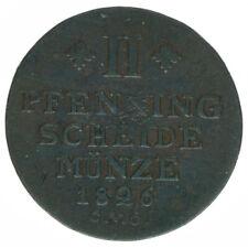 Braunschweig, Schwerin, 2 Pfennige 1826, A43432