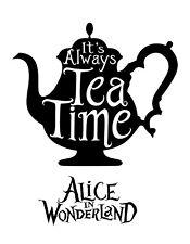 Alice in Wonderland Tea Time - Typography quote Decorative Vinyl Wall Sticker