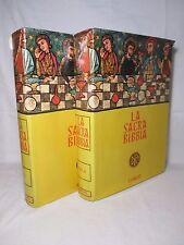 La Sacra Bibbia ( 2 volumi ) - Trad. Antonio Martini - Curcio 1956 Lussuosa ediz
